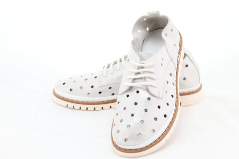 LSD Model 51-58 Tie Rope Oval Toes Circle Cutout White Sole Shoes - Aurora Boutique South Africa