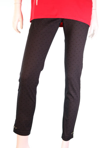 ADORATI Bottom Side Horizontal Studs Square Inprint CC Belt Pants - Aurora Boutique Online