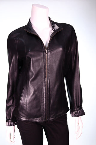 All Star Leather and Fur Double Sided Washable Long Leather Jacket - Aurora Boutique Online