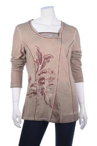 BiBA Long Sleeve Single Flower Top - Aurora Boutique Online