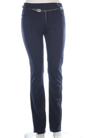 Extra Length Pocket Trim Pants - Aurora Boutique Online