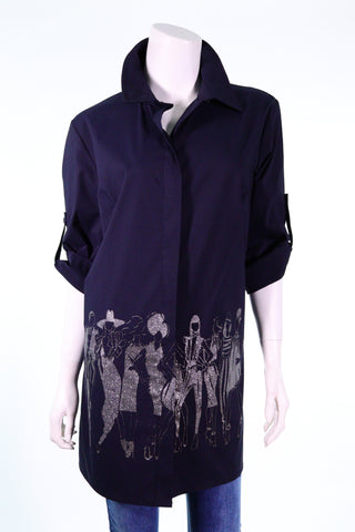 PIACERE 3000-34S Col-let Models on Catwalk Button Shirt - Aurora Boutique South Africa
