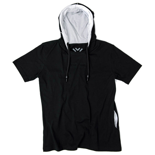 VAPRWEAR SHORT SLEEVE T-SHIRT, VAPE-READY HOODIE (BLACK) Apparel Vaprwear X-Small BLACK/WHITE