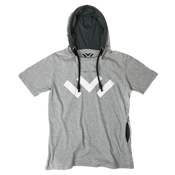 VAPRWEAR SHORT SLEEVE T-SHIRT, VAPE-READY HOODIE (GRAY W/ LOGO) Apparel Vaprwear