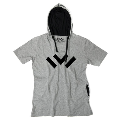 VAPRWEAR SHORT SLEEVE T-SHIRT, VAPE-READY HOODIE (GRAY W/ LOGO) Apparel Vaprwear X-Small GRAY/BLACK