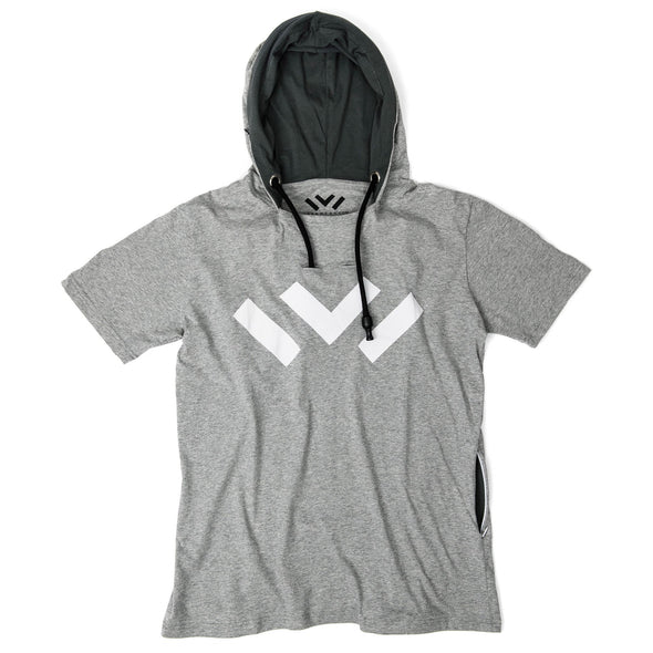 VAPRWEAR SHORT SLEEVE T-SHIRT, VAPE-READY HOODIE (GRAY W/ LOGO) Apparel Vaprwear X-Small GRAY/CHARCOAL