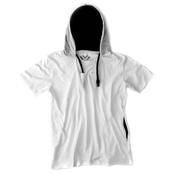 VAPRWEAR SHORT-SLEEVE T-SHIRT, VAPE-READY HOODIE (WHITE) Apparel Vaprwear X-Small WHITE/BLACK