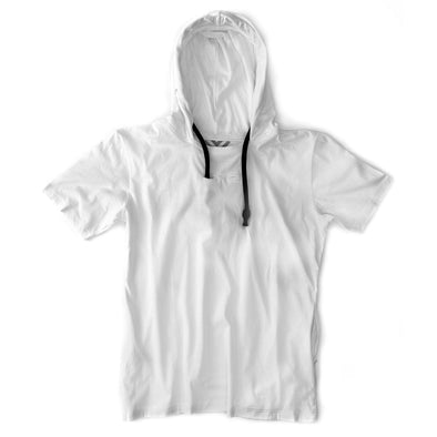VAPRWEAR SHORT-SLEEVE T-SHIRT, VAPE-READY HOODIE (WHITE) Apparel Vaprwear X-Small WHITE/WHITE