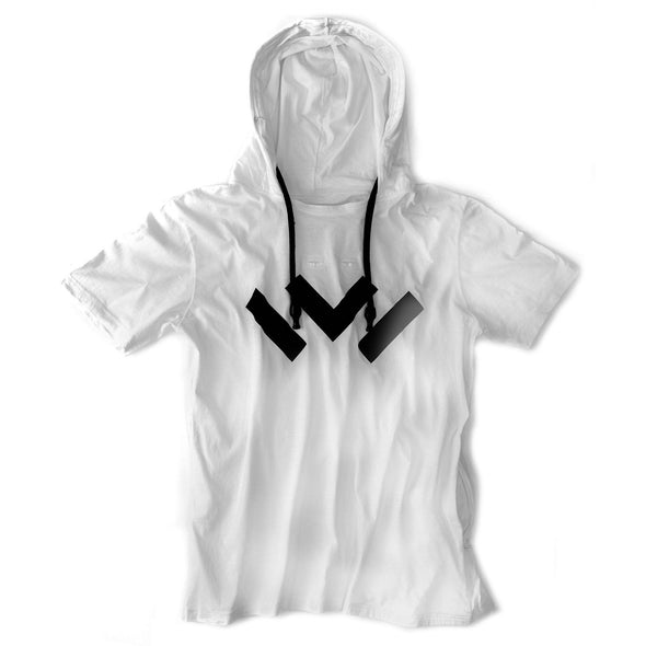 VAPRWEAR SHORT-SLEEVE T-SHIRT, VAPE-READY HOODIE (WHITE W/ LOGO) Apparel Vaprwear