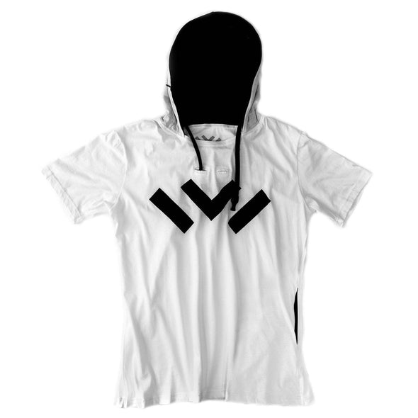VAPRWEAR SHORT-SLEEVE T-SHIRT, VAPE-READY HOODIE (WHITE W/ LOGO) Apparel Vaprwear X-Small WHITE/BLACK