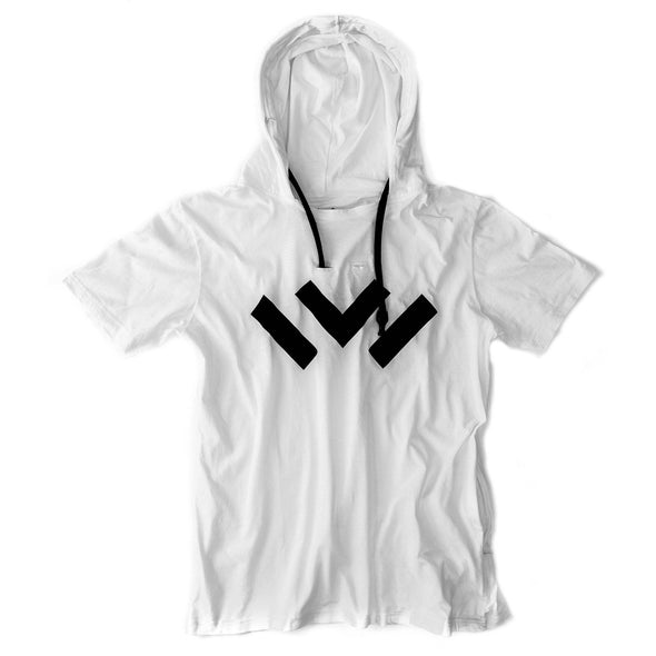 VAPRWEAR SHORT-SLEEVE T-SHIRT, VAPE-READY HOODIE (WHITE W/ LOGO) Apparel Vaprwear X-Small WHITE/WHITE