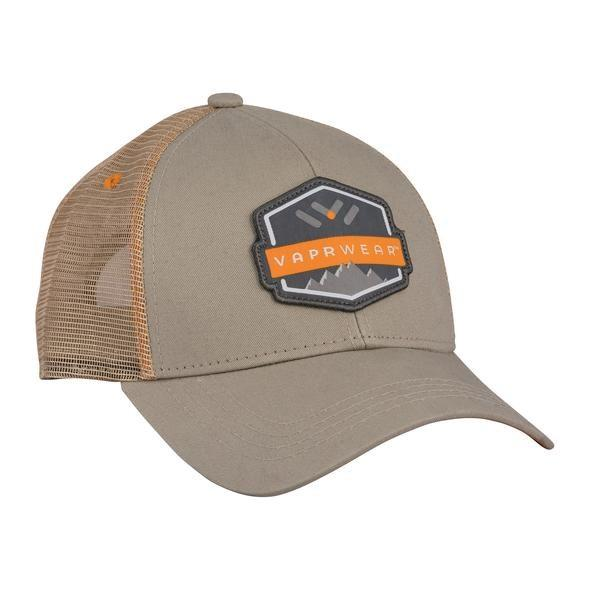 VAPRWEAR TRUCKER HATS Accessories Vaprwear ORANGE & KHAKI