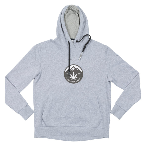VAPRWEAR VAPE-READY PULLOVER HOODIE, COLORADO ELEVATE LOGO Apparel Vaprwear Classic Pullover, Gray - Small
