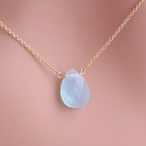 Aqua Glass Teardrop