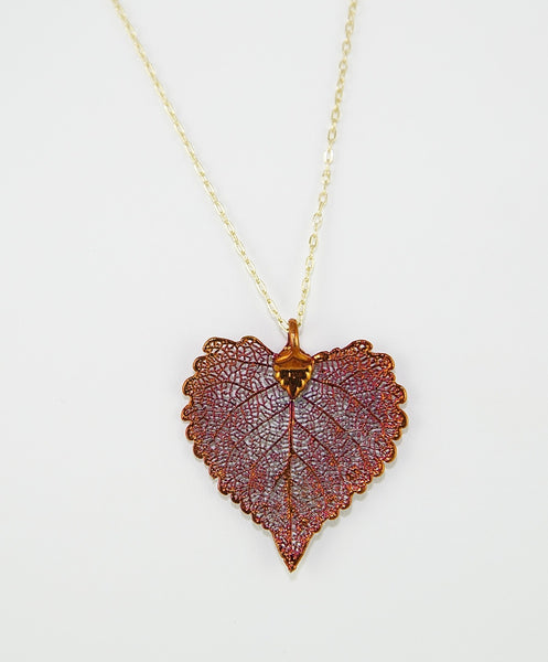 Cottonwood Real Leaf Necklace