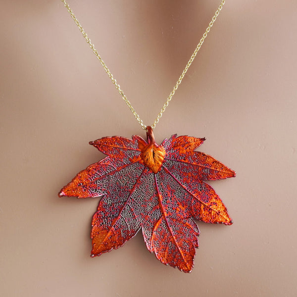Full Moon Maple Necklace