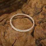 Hammered Circle Ring