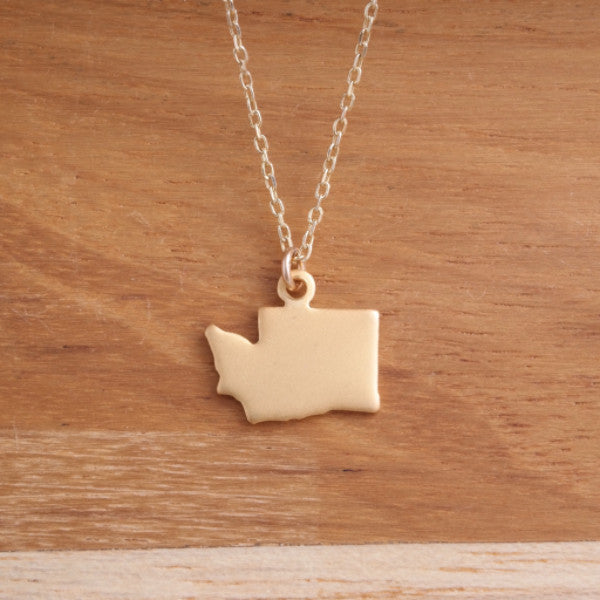 State Necklace - Gold