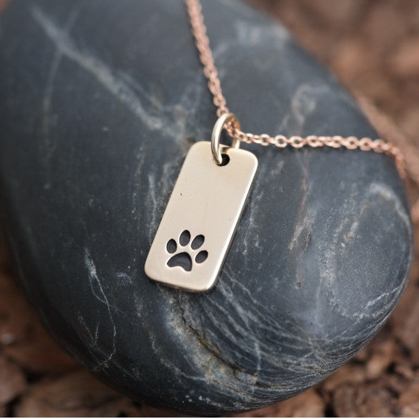 Paw Print Necklace Tag