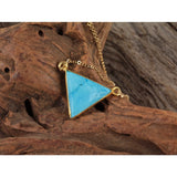 Stone Triangle Necklace