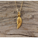 Mini Solid Wing Necklace