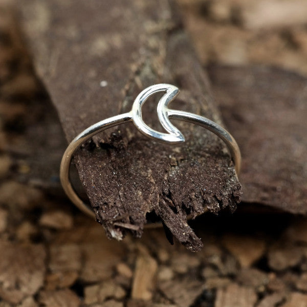 moon ring sterling silver