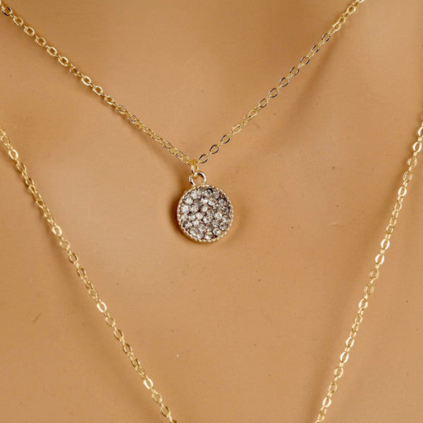 Layered Pave Disc and Bar