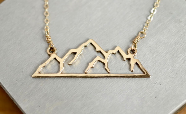 Mountain Range Cutout Necklace