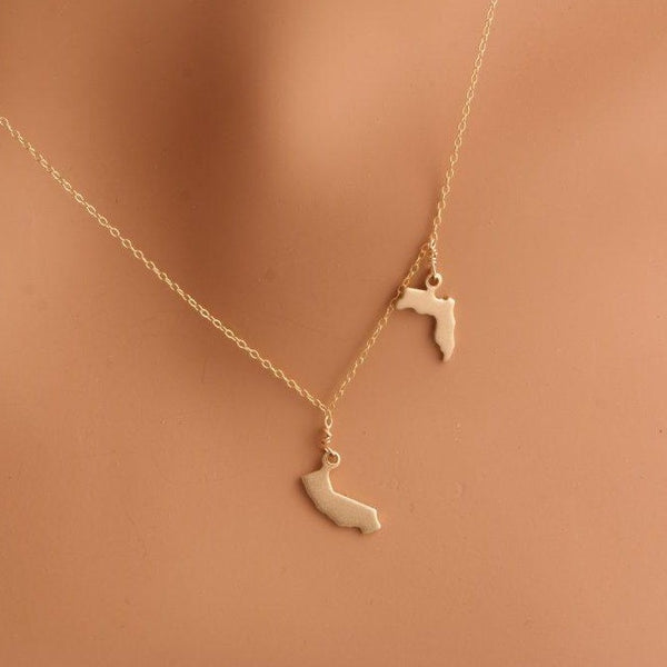Two State Necklace - Gold
