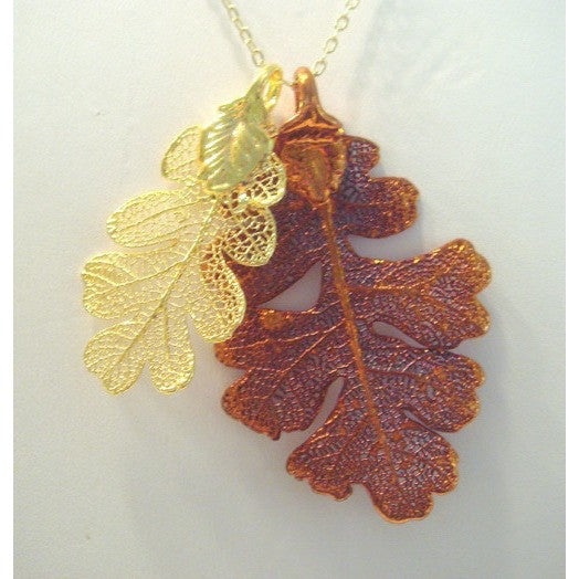 Double Lacey Oak Leaf Necklace