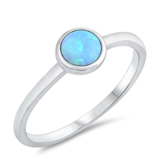 Opal Full Moon Ring