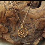 Wave Cutout Circle Necklace