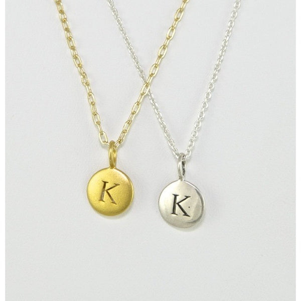 Silver Letter Necklace