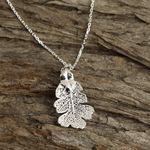 Mini Lacey Oak Leaf Necklace