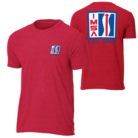 IMSA Logo Vintage Tee - Heather Red