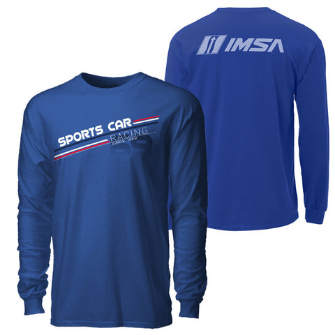 IMSA Sports Car Racing '69 Long Sleeve Tee - Royal