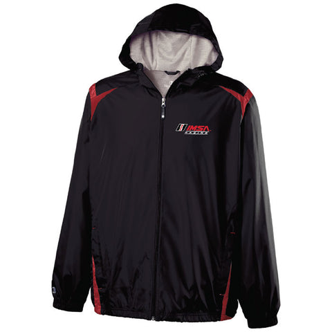 IMSA Logo Full Zip Rain Jacket - Black