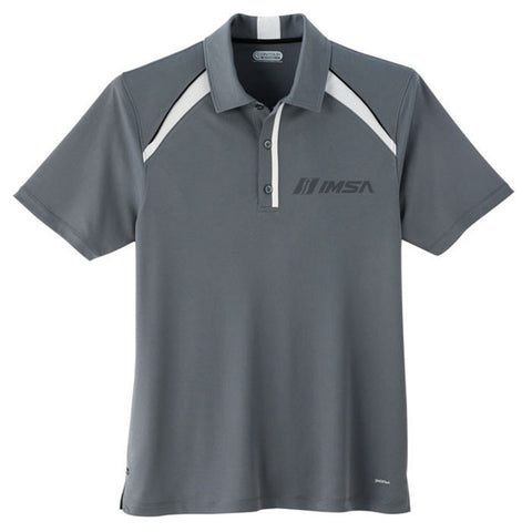 IMSA Men's Logo Quinn Tech Polo - Grey/White
