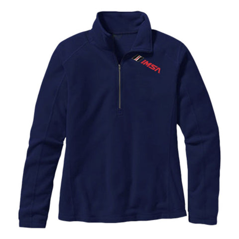 IMSA Women's Lightweight Half Zip Performance Fleece - Navy