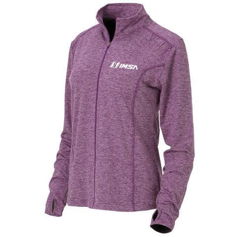 IMSA Ladies' Swerve Full Zip Jacket - Heather Plum