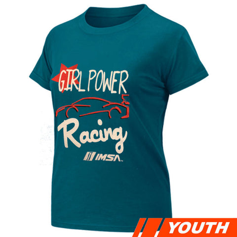 IMSA Youth Girl Power Tee - Turquoise