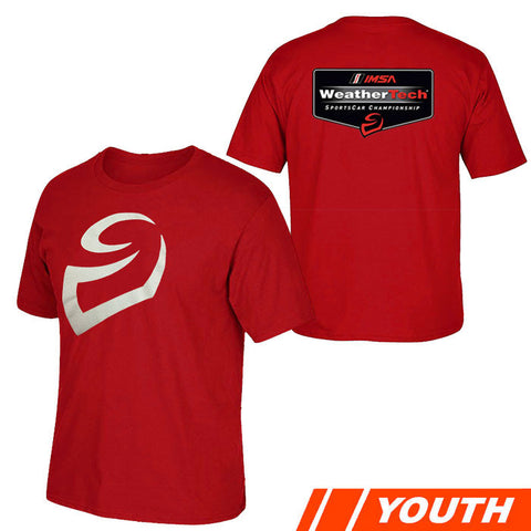 IMSA Youth WeatherTech Logo Tee - Red