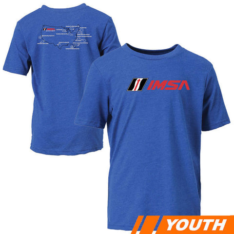 IMSA Racing Youth Map Tee - Royal