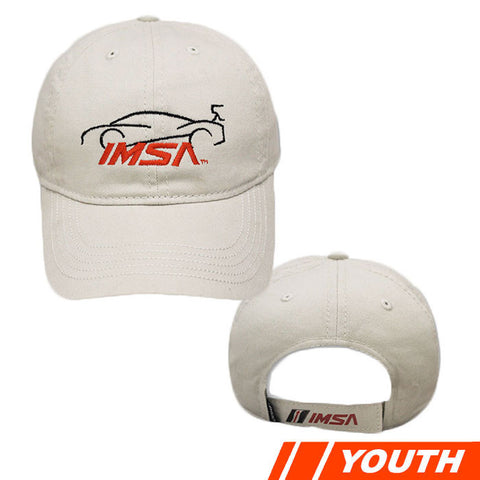 IMSA LOGO YOUTH CAR OUTLINE CAP - PUTTY