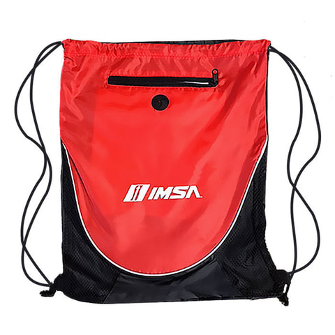 IMSA Drawstring Cinch Bag - Red