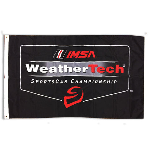 IMSA WeatherTech 3x5 Flag - Black