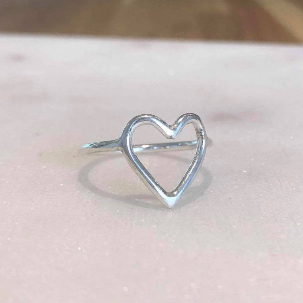 Charlotte Woods Open Heart Ring