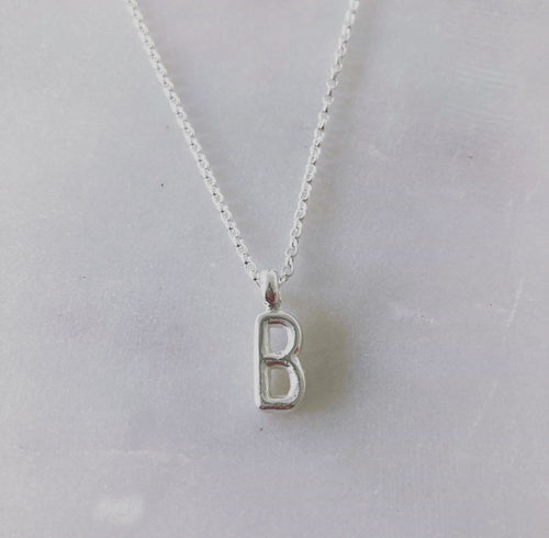 Alphabet Necklace -Silver