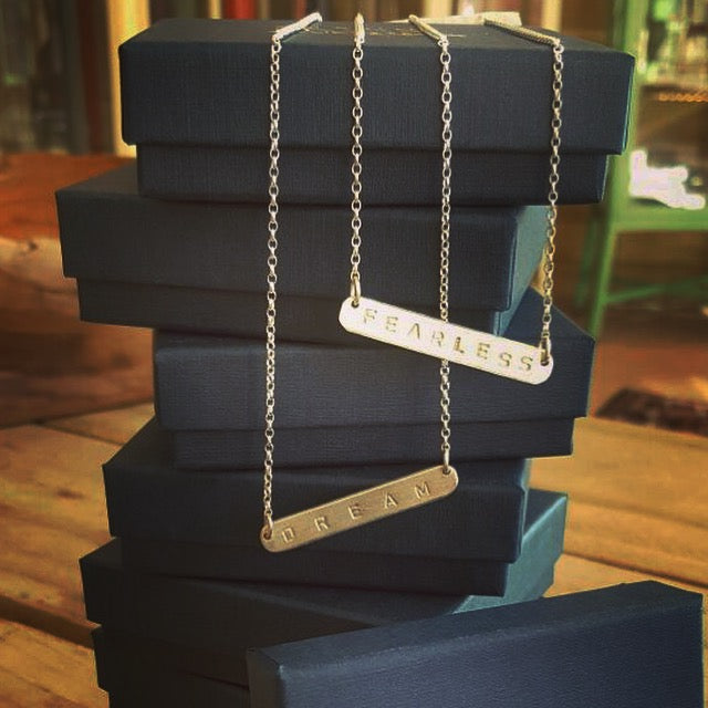 Double Sided Bar Necklace