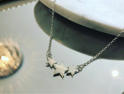 Lucky Trio Star Necklace